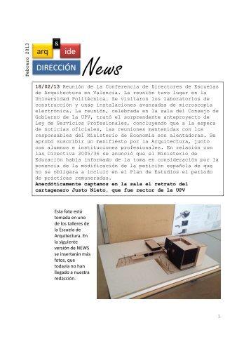 News News - Escuela de Arquitectura e Ingeniería de Edificación