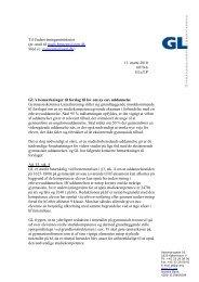 eux-lovforslag - GL's høringssvar - Gymnasieskolernes Lærerforening