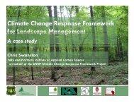 Climate Change Response Framework for Landscape Management