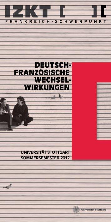 """""""Deutsch-französische Wechselwirkungen"""" Sommersemester ... - IZKT"""