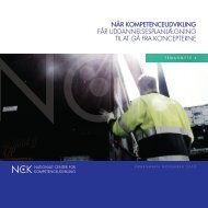 NÅR KOMPETENCEUDVIKLING FÅR ... - NCK - Aarhus Universitet