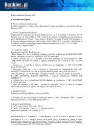 Regulamin konkursu Kobieta Biznesu 2012 - Bankier.pl