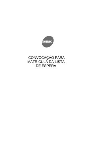 Crystal Reports - 2cham_CvLstJr.rpt - Senac São Paulo