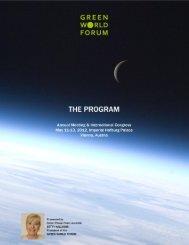 1 GREEN WORLD FORUM Program / Version: 4 / April 26, 2012