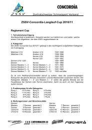 ZSSV-Concordia-Langlauf-Cup 2010/11 - Zentralschweizer ...