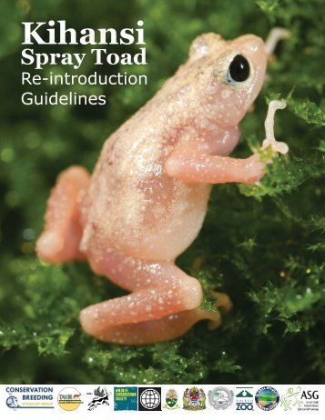 Kihansi Spray Toad Re-introduction Guidelines - Amphibian ...