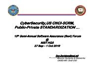 SCRM Standardization - Build Security In