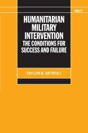 Humanitarian Military Intervention - Publications - SIPRI