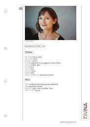 BARBARA SCHNITZLER - DIVINA – Agentur für Schauspielkunst