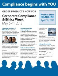 Compliance begins with YOU - Society of Corporate Compliance ...