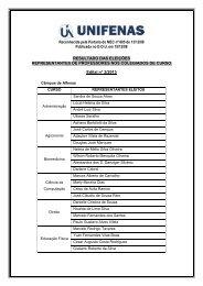 Reconhecida pela Portaria do MEC nº 605 de 13/12/88 ... - Unifenas