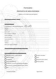 Formulario propuesta de mesa redonda