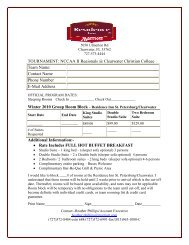 host hotels - Clearwater Christian College