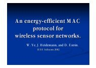An energy-efficient MAC protocol for wireless sensor networks.