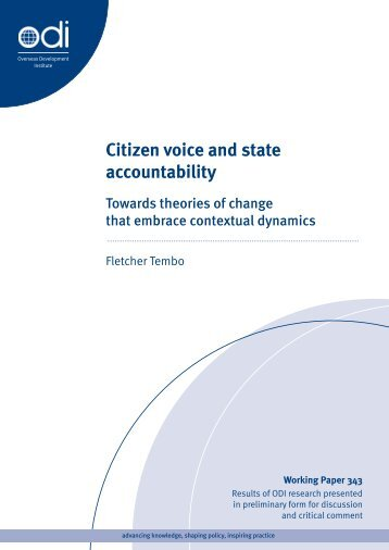 Citizen voice and state accountability: Towards ... - Capacity4Dev