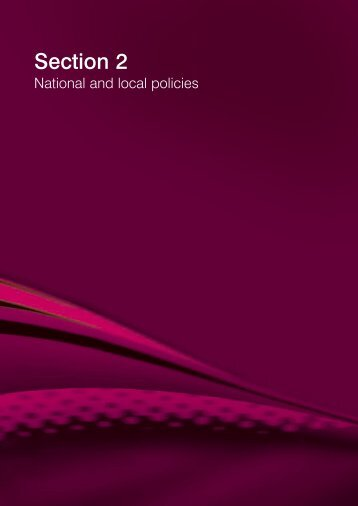 Section 2: National and local policies - Lancashire County Council