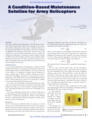 Article: A Condition-Based Maintenance Solution for Army Helicopters