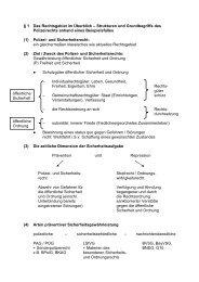 1 Das Rechtsgebiet im Überblick