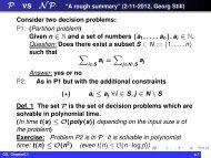 A short summary of P vs NP
