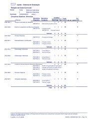 Júpiter - Sistema de Graduação Relação da Grade Curricular - USP