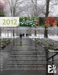 2012 Year in Review - The Scott Arboretum of Swarthmore College