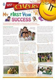 Two second year students reflect on their first year at HKUST and ...