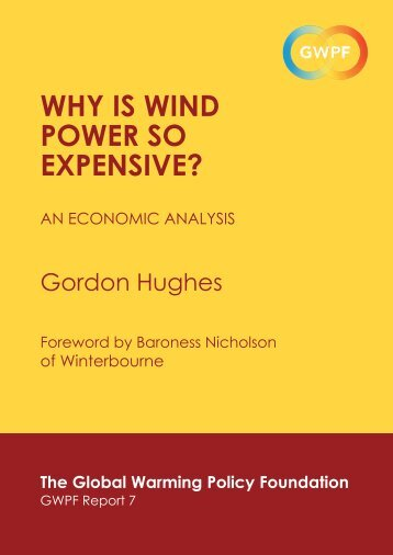 Why is Wind poWer so expensive? - The Global Warming Policy ...