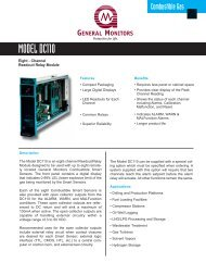 DC110 Eight Channel Readout Relay for ... - Simark Controls
