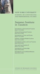 Summer Institute in Taxation - School of Continuing and ...