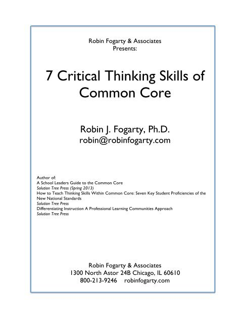 common core and critical thinking
