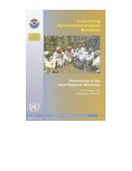 Improving Agrometeorological Bulletins - The World ...