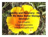 Reliability and Recovery: How Can We Make Better Storage Devices?