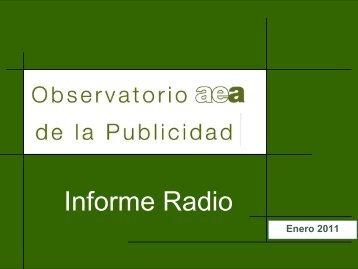 Informe Radio Enero 2011 - aea - Asociación Española de ...