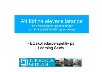 Learning study, Henrik Ader