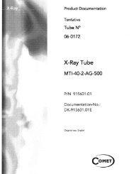 X-ray Tube Product Documentation