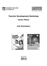 Senior Phase Life Orientation Module for Teachers