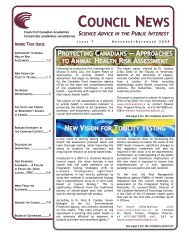Issue 7 - Council of Canadian Academies