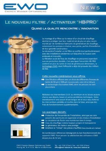 EWO - HB-PRO Filtre de protection chauffage - Crystal NTE SA