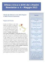 Newsletter n. 4 - Consiglio regionale del Piemonte