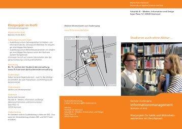 Informationsmanagement - Fakultät III - Hochschule Hannover