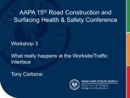 AAPA 15th Road Construction and Surfacing Health ... - Aapaq.org