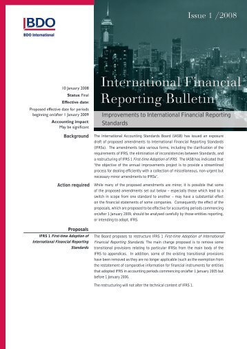 IFRB-2008-01 - BDO International