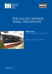 iron hulled heritage vessel restoration - International Specialised ...