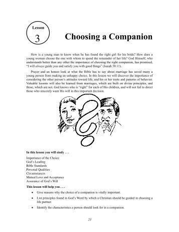 Choosing a Companion - GlobalReach.org
