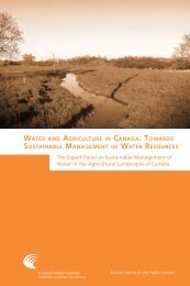 Water and Agriculture in Canada - Council of Canadian Academies