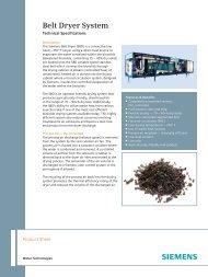 Belt Dryer System - Siemens