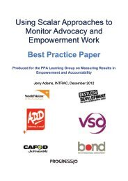 Using Scalar Approaches to Monitor Advocacy and ... - Bond