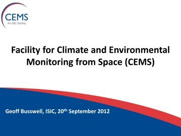 This is a Title - NCEO - National Centre for Earth Observation