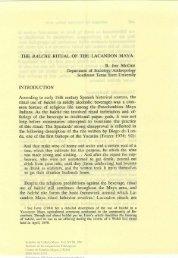 The balché ritual of the Lacandon Maya - UNAM