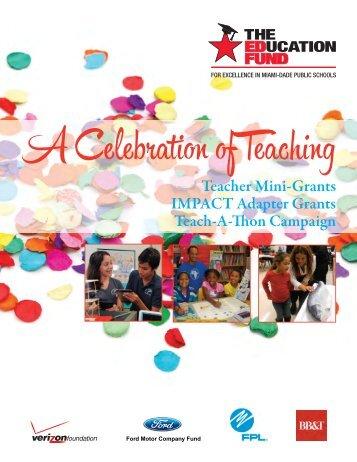 2012-2013 Teacher Mini-Grants Award Booklet - The Education Fund